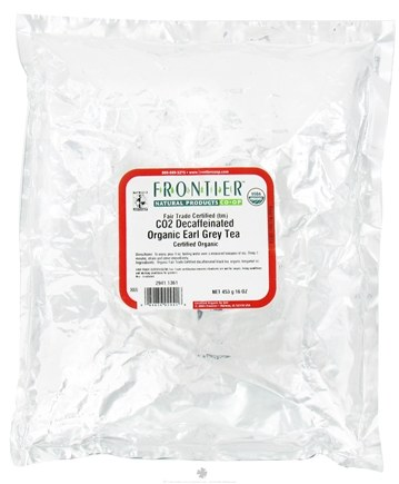 DROPPED: Frontier Natural Products - Bulk Earl Grey Tea Organic Decaffeinated - 1 lb. CLEARANCE PRICED