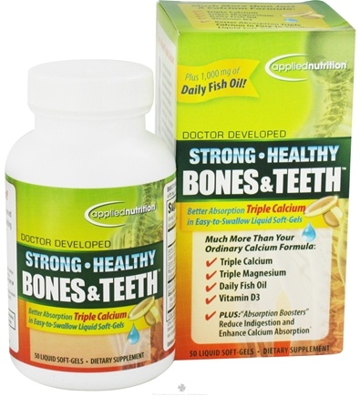 DROPPED: Applied Nutrition - Strong Healthy Bones and Teeth - 50 Softgels