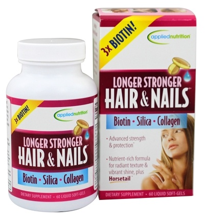 Applied Nutrition - Longer Stronger Hair and Nails - 60 Softgels