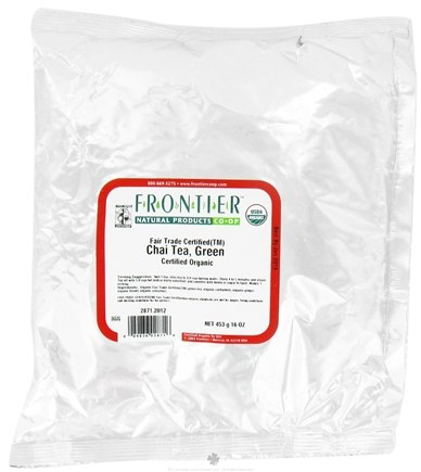 DROPPED: Frontier Natural Products - Bulk Chai Green Tea Organic - 1 lb. CLEARANCE PRICED