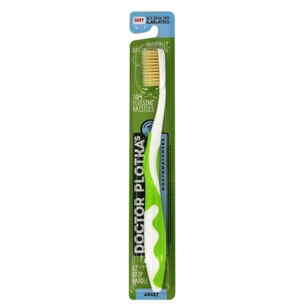 Mouth Watchers - Nano Silver Adult Soft Toothbrush Green