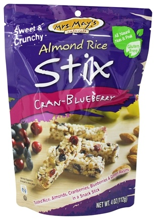 Mrs. May's Naturals - Almond Rice Stix Cran-Blueberry - 4 oz.