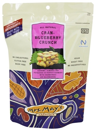 DROPPED: Mrs. May's Naturals - Slow Dry-Roasted Snack Cran-Blueberry Crunch - 5 oz.