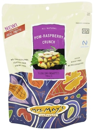 DROPPED: Mrs. May's Naturals - Slow Dry-Roasted Snack Pom-Raspberry Crunch - 5 oz.