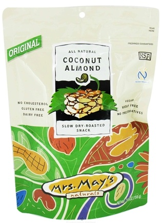 DROPPED: Mrs. May's Naturals - Slow Dry-Roasted Snack Coconut Almond Crunch - 5.5 oz.