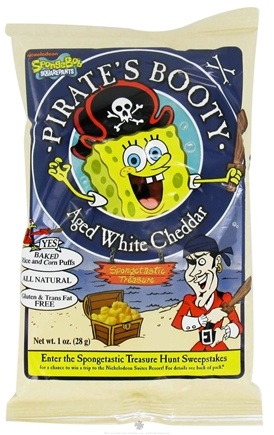 DROPPED: Pirate Brands - Pirate's Booty Baked Rice and Corn Puffs Aged White Cheddar - 1 oz.