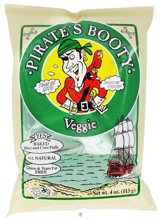 DROPPED: Pirate Brands - Pirate's Booty Baked Rice and Corn Puffs Veggie - 4 oz.