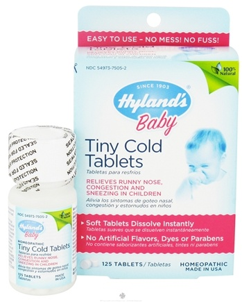 DROPPED: Hylands - Baby Tiny Cold Tablets - 125 Tablets