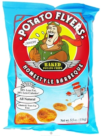 DROPPED: Pirate Brands - Potato Flyers Baked Potato Chips Homestyle Barbeque - 5.5 oz.