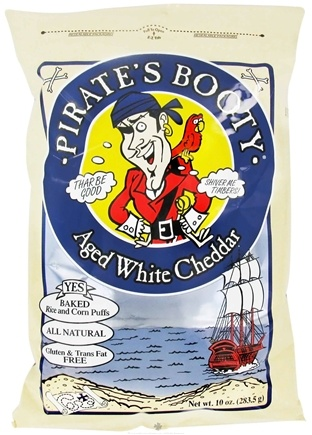 DROPPED: Pirate Brands - Pirate's Booty Baked Rice and Corn Puffs Aged White Cheddar - 10 oz.