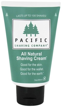 DROPPED: Pacific Shaving Company - Shaving Cream All Natural - 3 oz. CLEARANCE PRICED