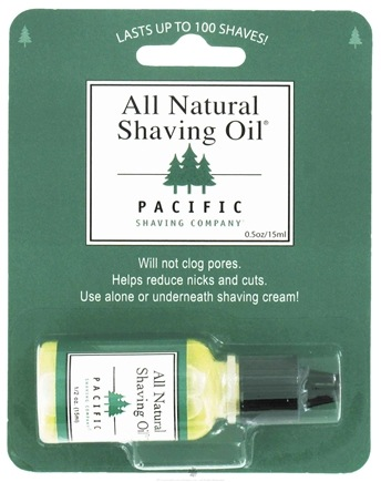DROPPED: Pacific Shaving Company - All Natural Shaving Oil - 0.5 oz. CLEARANCE PRICED