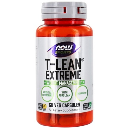DROPPED: NOW Foods - T-Lean Extreme - 60 Vegetarian Capsules CLEARANCE PRICED
