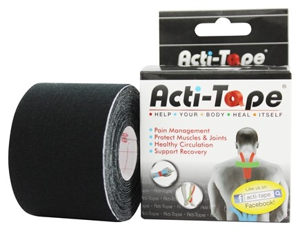 NutriWorks - Kinesiology Acti-Tape Black - 1 Roll(s)