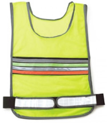 DROPPED: Sportline - 802 Walking Reflective Vest with Zipper Pocket Neon Yellow - CLEARANCE PRICED