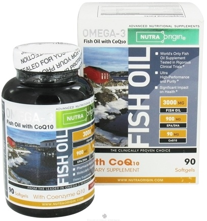 DROPPED: Nutra Origin - Omega-3 Fish Oil with CoQ10 - 90 Softgels CLEARANCE PRICED