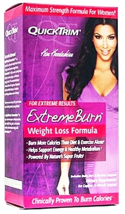 DROPPED: Kardashian - QuickTrim Extreme Burn Weight Loss Formula - 60 Caplets