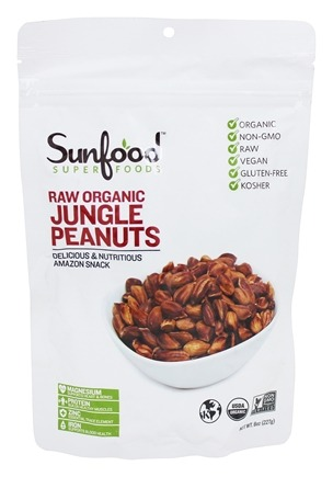 Sunfood Superfoods - Organic Amazonian Jungle Peanuts - 8 oz.