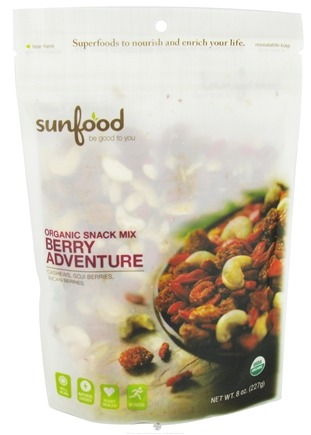 DROPPED: Sunfood Superfoods - Organic Snack Mix Berry Adventure - 8 oz. CLEARANCE PRICED