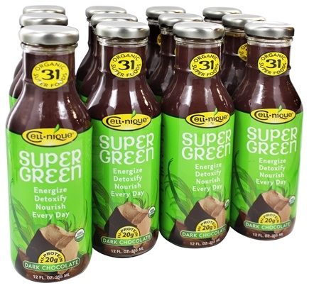 DROPPED: Cell Nique - Super Green Drink Dark Chocolate - 12 oz.