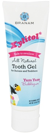 DROPPED: Branam Oral Health - Xylitol Tooth Gel for Babies and Toddlers All Natural Yum Yum Bubblegum - 4 oz.
