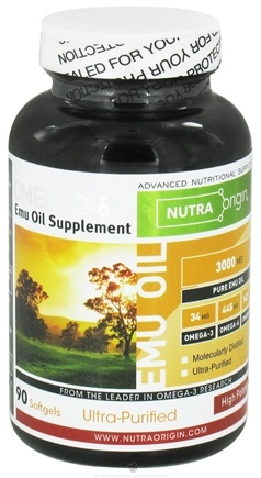 DROPPED: Nutra Origin - Omega 3-6-9 Emu Oil High Potency 3000 mg. - 90 Softgels CLEARANCE PRICED