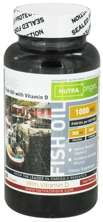 DROPPED: Nutra Origin - Omega-3 Fish Oil with Vitamin D High Potency 1000 mg. - 30 Softgels CLEARANCE PRICED