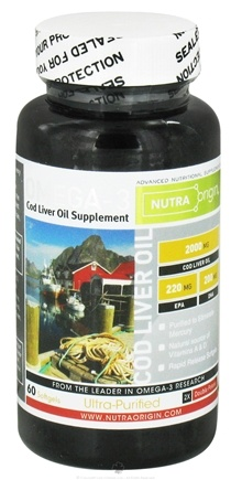 DROPPED: Nutra Origin - Omega-3 Cod Liver Oil Double Potency 2000 mg. - 60 Softgels