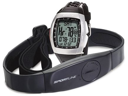 DROPPED: Sportline - Duo 1060 Dual-Use Heart Rate Monitor Watch Designed For Men Black - 1 Monitor(s) CLEARANCE PRICED