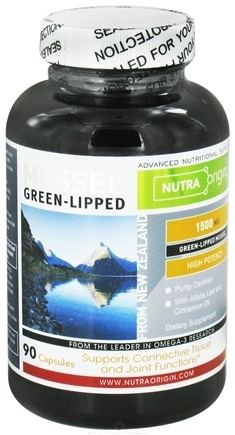 DROPPED: Nutra Origin - Green-Lipped Mussel High Potency 1500 mg. - 90 Capsules