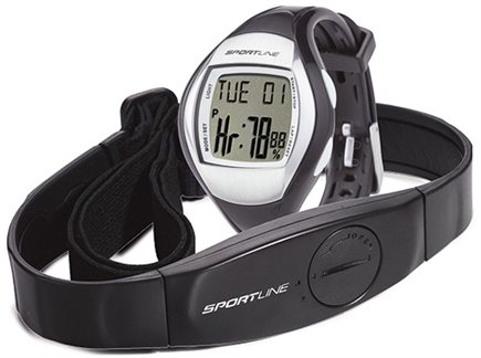 DROPPED: Sportline - Duo 1010 Dual-Use Heart Rate Monitor Watch Designed for Women Blue - 1 Monitor(s) CLEARANCE PRICED