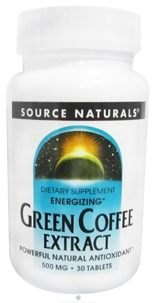 DROPPED: Source Naturals - Green Coffee Extract Energizer - 30 Tablets (with GCA) CLEARANCE PRICED