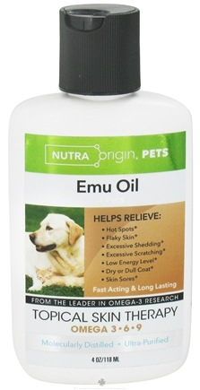 DROPPED: Nutra Origin - Omega 3-6-9 Emu Oil Topical Skin Therapy for Pets - 4 oz. CLEARANCE PRICED