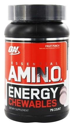 DROPPED: Optimum Nutrition - Essential Amino Energy Chewables Fruit Punch - 75 Chewables