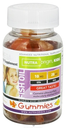 DROPPED: Nutra Origin - Omega-3 Fish Oil Gummies for Kids - 60 Gummies