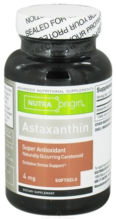 DROPPED: Nutra Origin - Astaxanthin 4 mg. - 30 Softgels CLEARANCE PRICED