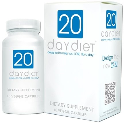DROPPED: Creative BioScience - 20 Day Diet - 40 Vegetarian Capsules