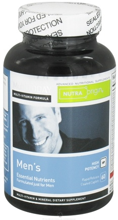 DROPPED: Nutra Origin - Multi Today Men's Essential Nutrients High Potency - 60 Caplets CLEARANCE PRICED