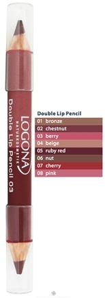 DROPPED: Logona - Double Lip Pencil 03 Berry - 1.38 Grams CLEARANCE PRICED