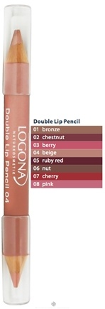 DROPPED: Logona - Double Lip Pencil 04 Beige - 1.38 Grams CLEARANCE PRICED