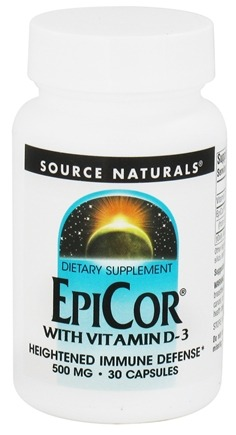 DROPPED: Source Naturals - EpiCor with Vitamin D3 500 mg. - 30 Capsules CLEARANCE PRICED