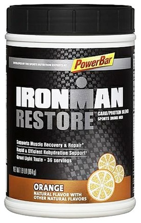 DROPPED: PowerBar - Ironman Restore Carb/Protein Blend Sports Drink Mix Orange - 1.9 lbs. CLEARANCE PRICED