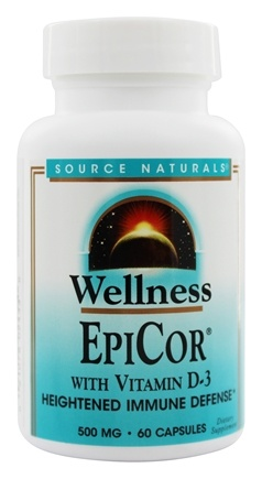 Source Naturals - EpiCor with Vitamin D3 500 mg. - 60 Capsules