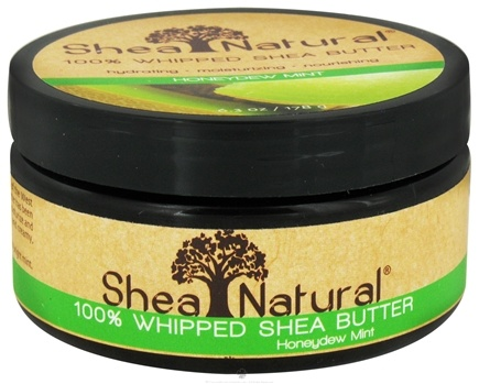 DROPPED: Shea Natural - 100% Whipped Shea Butter Honeydew Mint - 6.3 oz. CLEARANCE PRICED