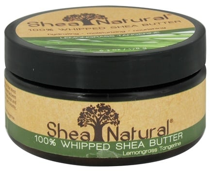 DROPPED: Shea Natural - 100% Whipped Shea Butter Lemongrass Tangerine - 6.3 oz. CLEARANCE PRICED