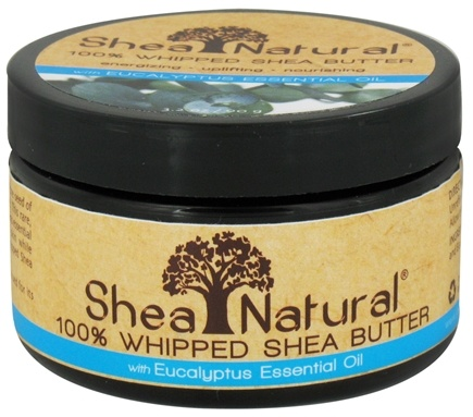 DROPPED: Shea Natural - 100% Whipped Shea Butter With Eucalyptus Essential Oil - 3.2 oz. CLEARANCE PRICED