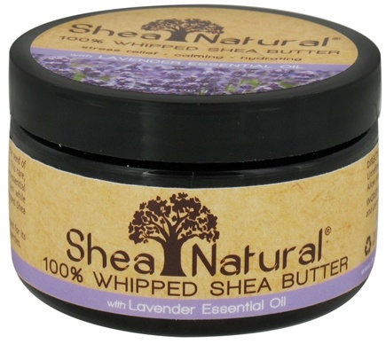 DROPPED: Shea Natural - 100% Whipped Shea Butter With Lavender Essential Oil - 3.2 oz. CLEARANCE PRICED