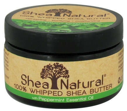 DROPPED: Shea Natural - 100% Whipped Shea Butter With Peppermint Essential Oil - 3.2 oz. CLEARANCE PRICED