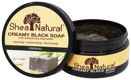 DROPPED: Shea Natural - 100% Creamy Black African Soap With Moisturizing Shea Butter - 8 oz.