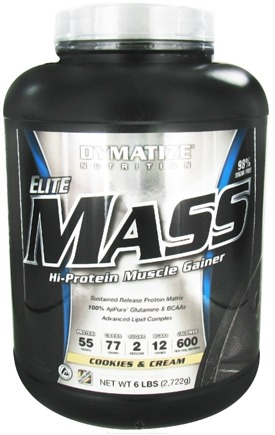 DROPPED: Dymatize Nutrition - Elite Mass Gainer Hi-Protein Muscle Gainer Cookies and Cream - 6 lbs.